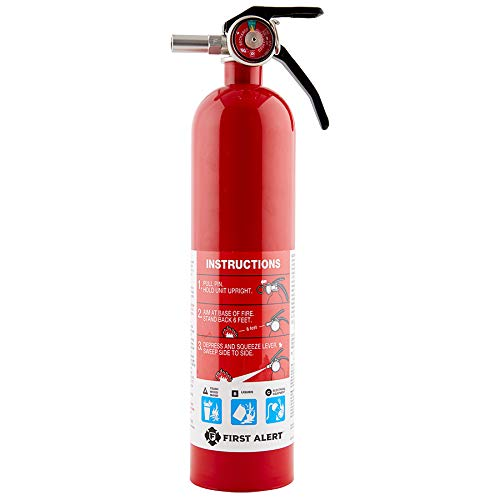 First Alert 18-9896 Pro 2-5 Fire Extinguisher Red 2.5 Lb.