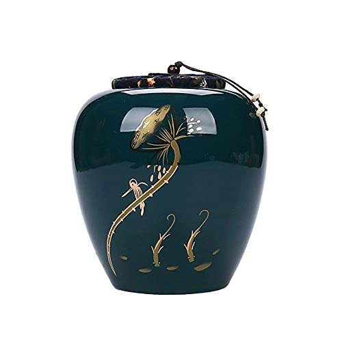 DGHJK Urnas para Cenizas de Funeral, cerámica Pintada a Mano Beautiful Life Urns Urna de Recuerdo para Cenizas - Tamaño pequeño - NO destinada a la cremación Completa en cantidad de Cenizas