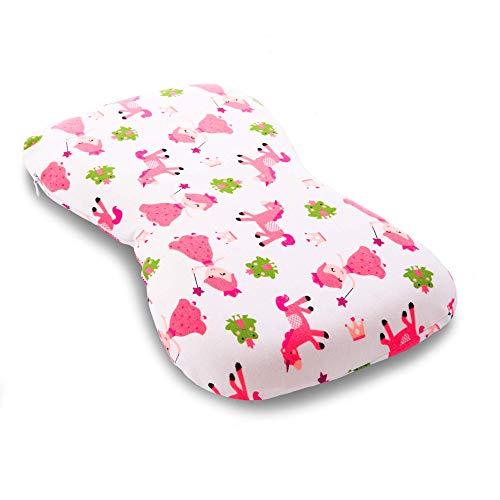 Karmakare Cuscino Neonato Antisoffoco In Memory Foam Extra-Soft Per Prevenzione Plagiocefalia Bambini Sfoderabile Ergonomico Comprensivo di 2 Fodere in 100%...