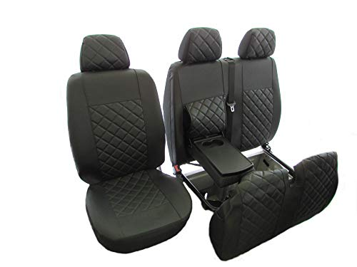 T4 TRANSPORTER Compatible . DUB SEAT GLOVE Genuine FRONT Single and Twin Waterproof Protective Seat Covers in Black