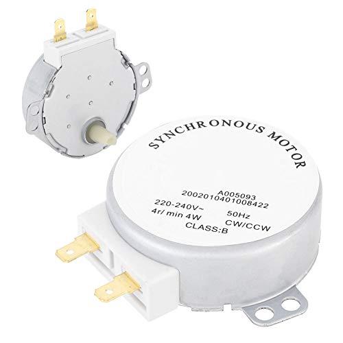 Weikeya Motor síncrono Estable, 4W Hecho de aleación de Aluminio Terminales de Metal Consumo de energía para Ventilador eléctrico