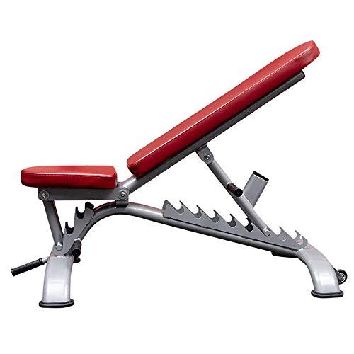 Banco de entrenamiento de fuerza, banco de pesas ajustable Banco de pesas plegable Prensa de banco para entrenamiento físico Body Fitness Training Training Bench Fitness Bench Fitness Equipment,Rojo