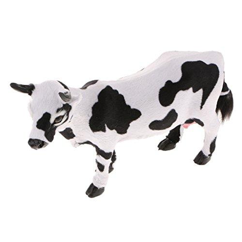 B Blesiya Dekofigur Kuh Gartenfigur Cow Tierdeko für Garten, Zuhause, Festivaldekor - L