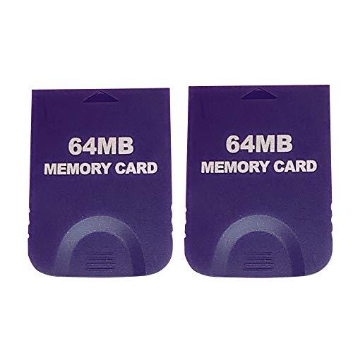 RUITROLIKER Memory Card 64MB Speicherkarte Lila für Gamecube & Wii (2er Pack)