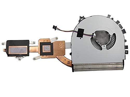 Ventilador y disipador térmico de CPU para computadora portátil Compatible con lenovo FLEX 3-1470 Flex 3-1570 Yoga 500-14IBD 500-14IHW 500-15IBD 500-15IHW 5H40H91134 DFS501105PR0T (FGA8) Nuevo.