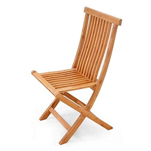 Balkon klapstoel patio teak eettafel en stoelen buitentuin massief houten stoel Nordic balkon vouwen vrijetijdsbesteding buitenshuis strandstoel ligstoel 8bayfa (Size : 90 x 44 x 45cm)