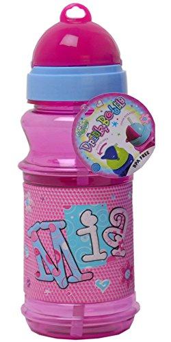Foto op canvas Mia gepersonaliseerde drinkfles met rietje