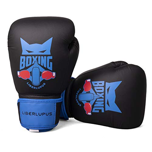 Liberlupus Kids Boxing Gloves, Boxing Gloves for Kids 3-15, Youth Boxing Gloves with Multiple Color & Size, Kids Boxing Gloves for Punching Bag, Kickboxing, Muay Thai, MMA - size: 4