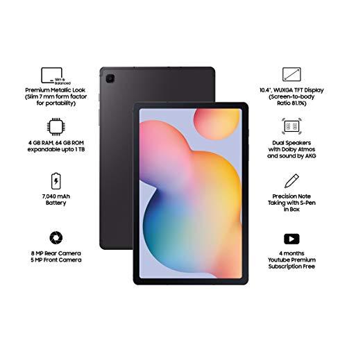 Samsung Galaxy Tab S6 Lite (10.4 inch, Wi-Fi, 64 GB) - Oxford Grey