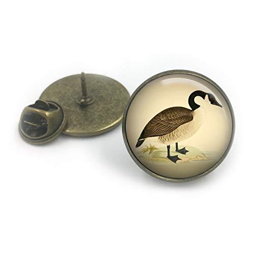 Butterfly N Beez Antike Bronze Wildfowl Canada Goose Revers Pin Badge| Revers| Geschenk für ihn| Wildvögel| Gans| Wildvogel britische Vögel| Tierwelt| Geschenk für ihn| Pin-Abzeichen
