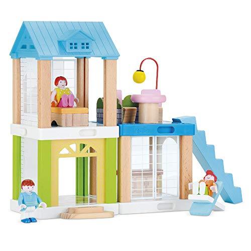 WOOMAX- Casetta delle Bambole modulare 37 Pezzi, 46443