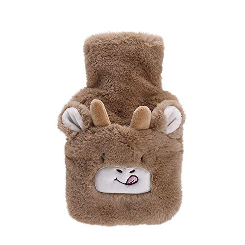 manyan Hot Water Bottle,2Pcs/Plus Radish Rabbit Explosion-Proof Rubber Water-Filled Hot Water Bottle Plush Cloth Cover Removable And Washable Water-Filled Hand Warmer