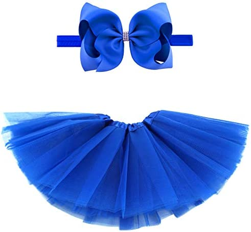 BGFKS 5 Layered Toddlers Tulle Tutu Skirt for Girls with Headband for Baby Girl 0 to 36 Months product image