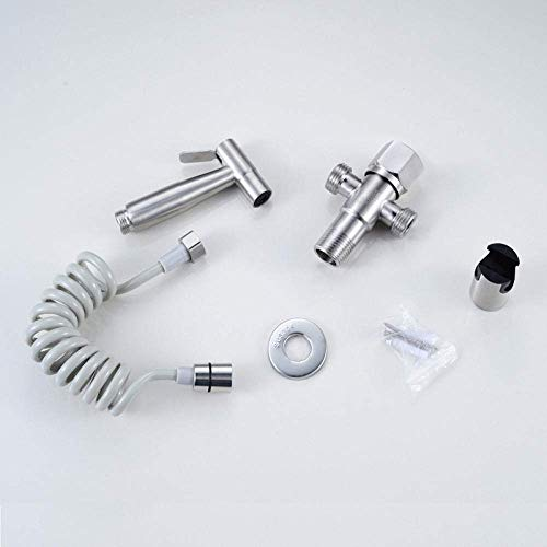 Check Out This Hand Held Bidet Sprayer Kit-304 Stainless Steel Toilet Bidet Sprayer Spray Gun Set-B