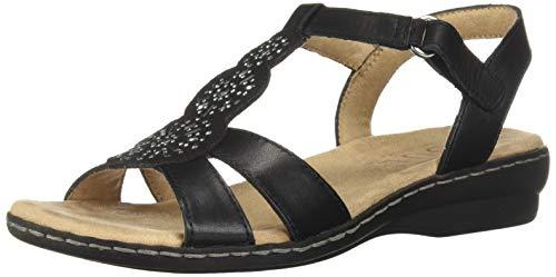 SOUL Naturalizer Women's BELLE Sandal, BLACK, 9 M US