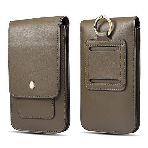 Custodie da cintura Premium Leather Belt Phone Pouch Holster con clip for l'iPhone Xs Max, 11 Pro Max, XS, X, for Samsung Galaxy S20 Ultra 5G, S20, S20 Ultra, Note20 Ultra 5G, Note20, borsa for gli uo