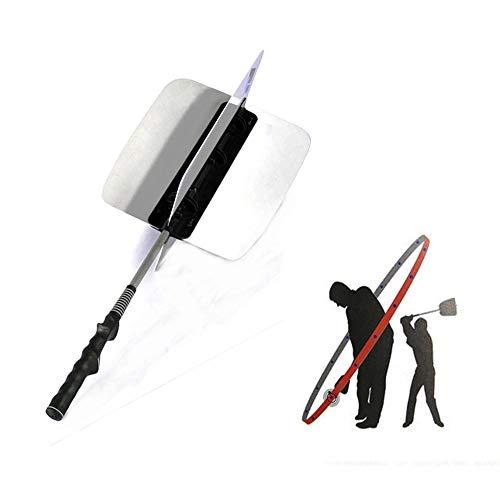 Crestgolf Golf Power Swing Fan Trainer Übungsanleitung Trainingshilfen, Golf Swing Trainer Power Resistence Fan Golf Pinwheel Speed Übungstraining-White
