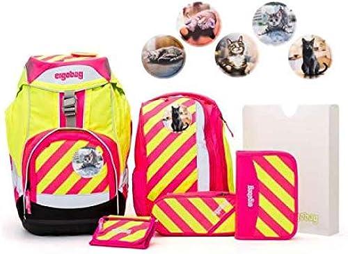 Ergobag Pack Set 7tlg StrahleB mit Wunschkletties Katzen