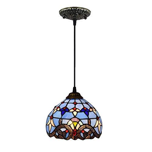 LMJ-CTlight Mini Barock Tiffany Kronleuchter Glasmalerei Schatten 8 Zoll Decke dekorative...