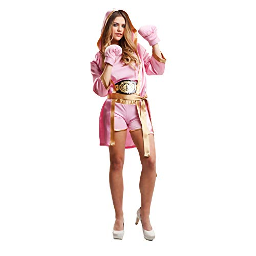 My Other Me Me-203346 Disfraz de boxeadora para mujer, color rosa, M-L (Viving Costumes 203346)