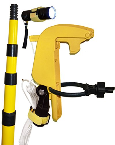 Gotcha Sprayer Homeowner, Flashlight, 12ft - 4ft, 4 Section telescoping Extension Pole (1 Pack). Does NOT Work with The Powder Duster.