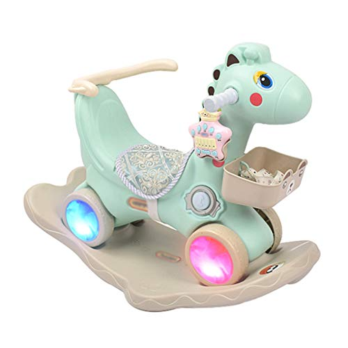 Buy Bargain FJH Rocking Horses Rocking Horse Children with Music Lights Trojan Dual-use Guardrail La...