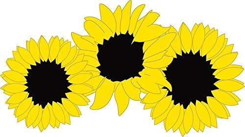 """MAGNET Sunflowers, Sunflower, Sunflower Shirt, Sunflower Sticker, Sunflower Pillow Magnetic Car Sticker Decal Refrigerator Metal Magnet Vinyl 5"""""""