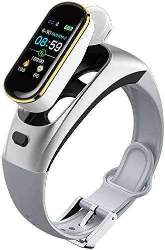 Reloj inteligente deportivo con TWS Bluetooth inalámbrico de frecuencia cardíaca Monitor de sueño de presión arterial pantalla de color LED podómetro Watch-B
