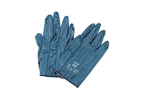 12x Ansell Hynit 32-105 Guanti in nitrile Blu Gr. 8, 9, 10, Dimensione:8