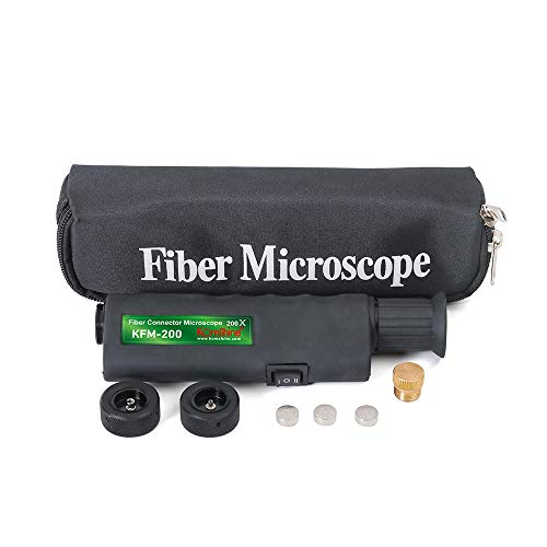 Fiber Optic Microscope KFM-200 Scope with 400X Magnification 1.25/2.5mm Adapters for KomShine