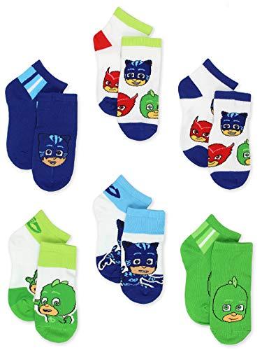 PJ Masks Boys Girls 6 pack Quarter Style Socks Set (Shoe: 7-10 (Sock: 4-6), Blue/Multi Quarter)