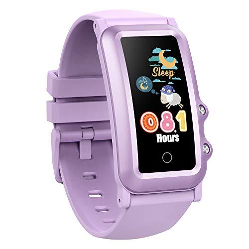 AUPALLA Pulsera de Actividad Niños, Reloj Inteligente Fitness Tracker con Podómetro, Pulsómetros, Monitor de Sueño, Contador de Caloría, 4 Modos Deportivos Smartwatch para Niñas y Niños (Púrpura)