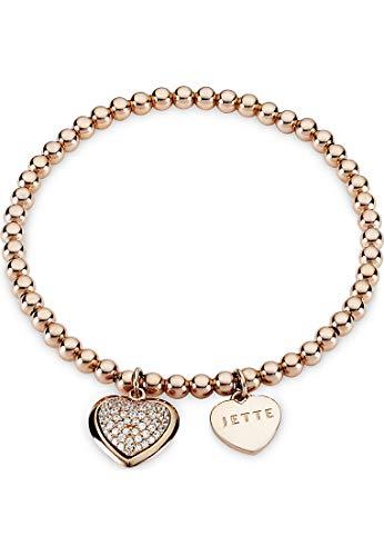 JETTE Damen-Armband 925er Silber 61 Zirkonia One Size Roségold 32001158