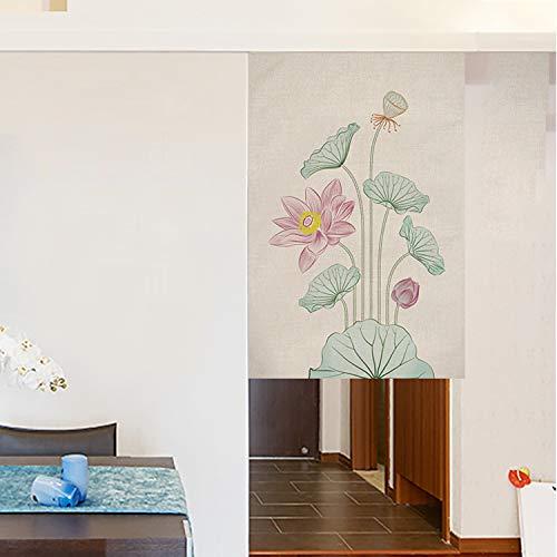 FR&RF Chinesischer Stil Türvorhang Küche Restaurant Trennwand halbhohe rauchfeste Baumwolle und Leinen Vorhänge, Monolithisch, 80*120