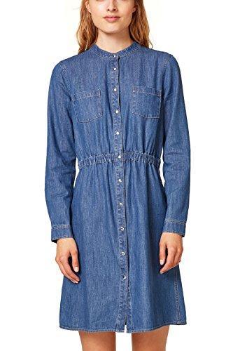 edc by ESPRIT Damen 088CC1E015 Kleid, Blau (Blue Medium Wash 902), Large