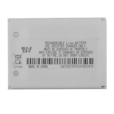 Nokia BLC-21600mAh de batería para móvil Nokia 1221126012612260331033153330331534103510