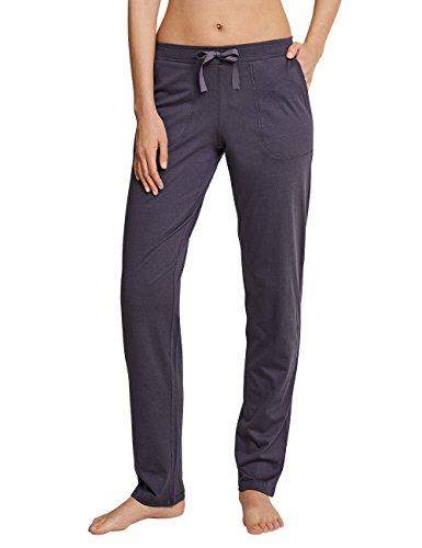 Schiesser Damen Mix & Relax Jerseyhose lang Schlafanzughose, Grau (Graphit 207), 34 (Herstellergröße: 068)