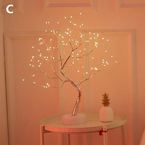 LED Baum mit Blüten Blütenbaum Lichterbaum, Weihnachtsdeko Lichterdeko, Weihnachten LED Bonsai Blossom Tree Light mit 36/108 LEDs USB/Batteriebetriebenes Nachtlicht for Home Night Light and Gift