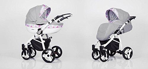 Hogartrend - Carrozzina / Passeggino TRIO per bambini, mod. Milano, 3 pezzi, con struttura in alluminio colore 5