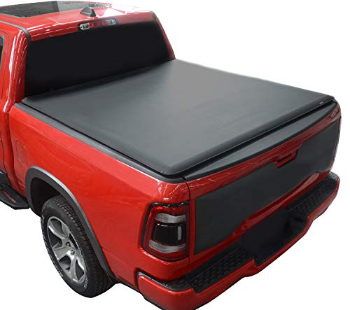 KSCPRO Truck Tonneau Covers Soft Roll Up Fits 2002-2018 Dodge Ram 1500; 2019-2021 1500 Classic;2003-2020 Ram 2500 3500 6.4 Feet Bed, Fleetside (Does Not Fit with Multi-Function Tailgate and Rambox)