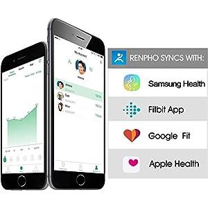 RENPHO Bluetooth Body Fat Scale Smart BMI Scale Digital Bathroom Wireless Weight Scale, Body Weight Scale with Smartphone App 396 lbs Digital Weight Scale, White