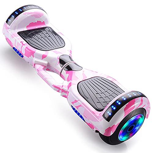 RENSHUYU Hoverboards pour enfants avec haut-parleur Bluetooth, roue lumineuse, belles lumières LED, hoverboards pour enfants et adolescents et adultes.