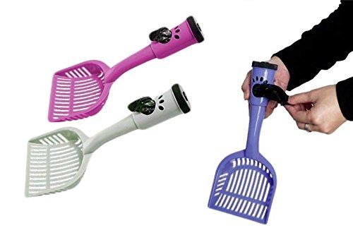 takestop® Exkremente Schaufel mit Spender für Hygienebeutel + Rolle gratis für Hund Katze Katze Tier Farbe zufällig