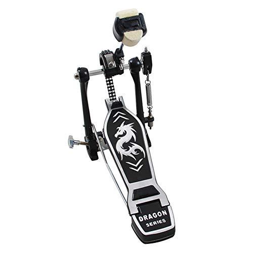 LVJUNQ Pedal de bombo único, placa de pedal de lomo de peso antideslizante adopta resortes flexibles y ajustables, alto rendimiento, adecuado para la familia, la oficina