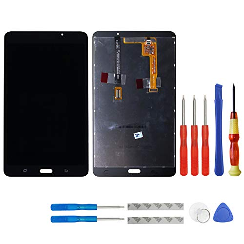 swark - Display LCD compatibile con Samsung Galaxy Tab A 7.0 WiFi Tablet SM-T280 (non per versione 3G & T285 & No Earpiece Hole) Nero Touch Screen Digitizer