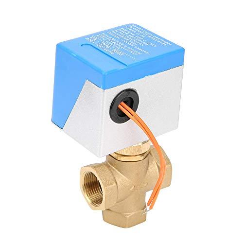 ViewSys DN20 latón de 3 vías Bola Válvula motorizada eléctrica for el acondicionador de Aire de AC220V Control de Flujo,