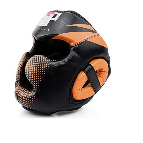 TTP Essential Professional Boxing MMA Kickboxing Head Gear (Gray, S/M)