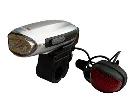 Powerplus Hirondelle Lampe torche dynamo pour vélo, en acier, gris