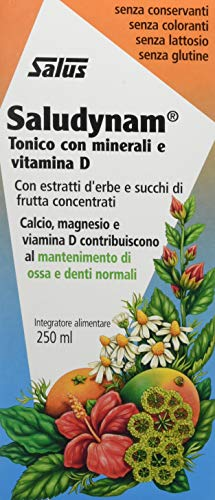 Salus Saludynam - Integratore Alimentare Di Calcio, Magnesio, Vitamina D - 250 Ml