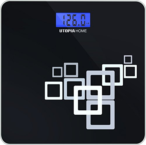 Utopia Home High Precision Digital Bathroom Scale with Thick Tempered Glass ≈ 550 Pounds